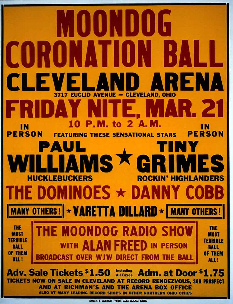 「Moondog Coronation Ball」活動海報。