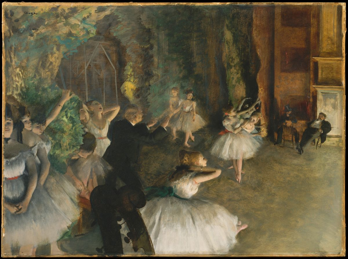 〈The Rehearsal of the Ballet On Stage〉,繪於1874 年。