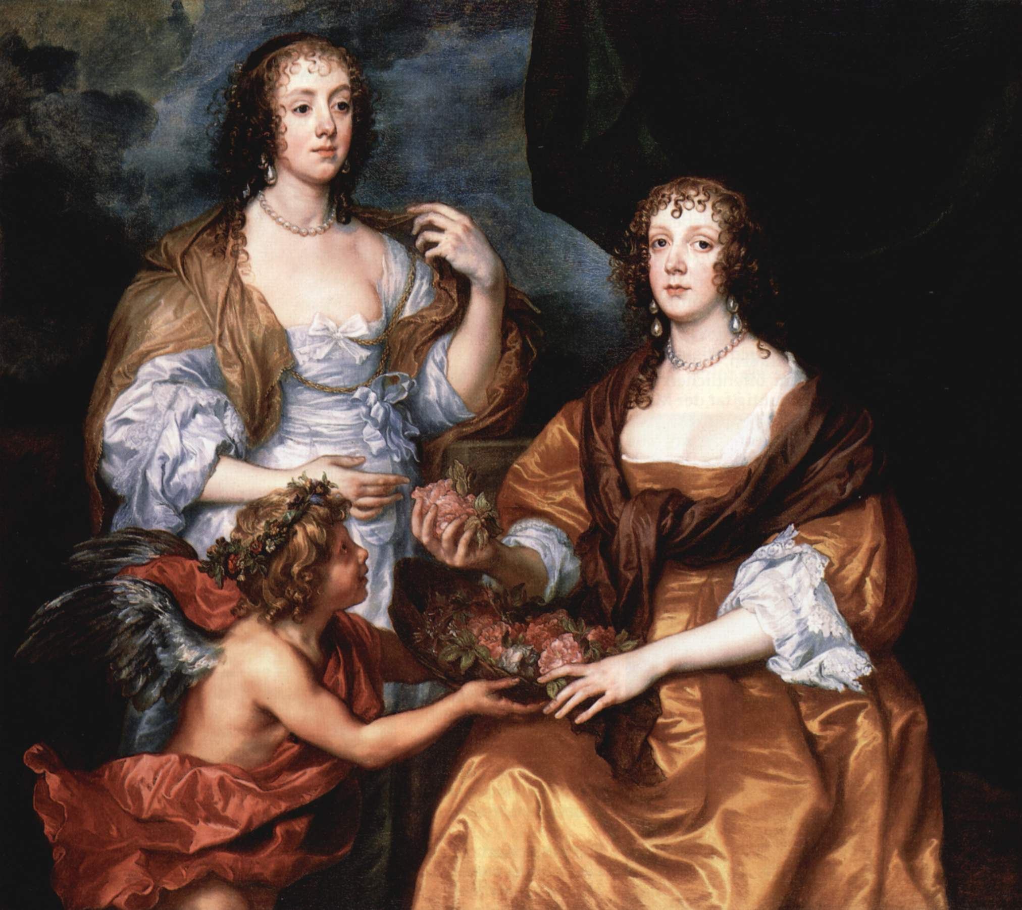 《Lady Elizabeth Thimbelby and Dorothy, Viscountess Andover》(Anthony Van Dyck,1637)