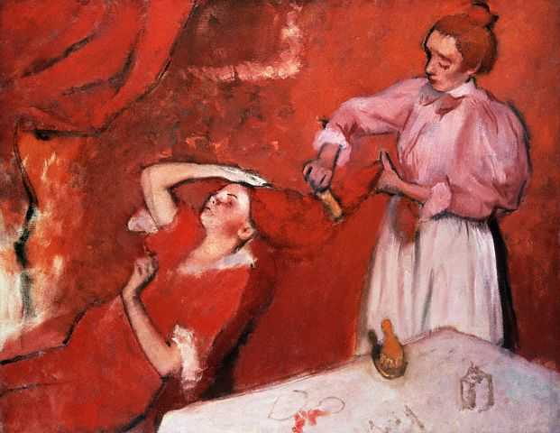 《Combing the Hair》(Edgar Degas,1896)