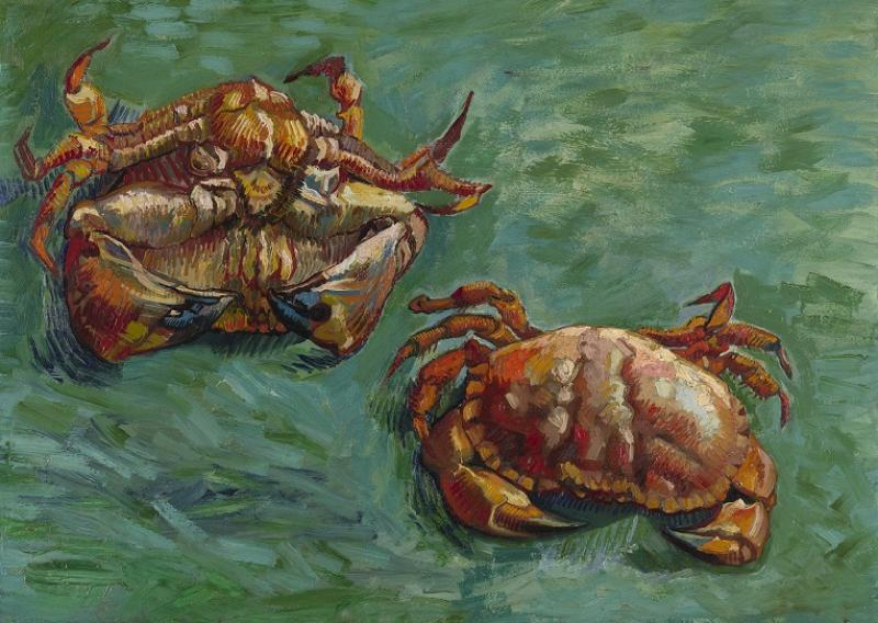 《Two Crabs》(Vincent van Gogh,1889)