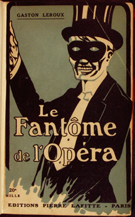 Cover of the 1921 edition of Le Fantôme de l'Opéra by Gaston Leroux (1868-1927)